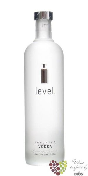 "Absolut "" Level "" country of Sweden premium vodka 40% vol.  0.70 l"