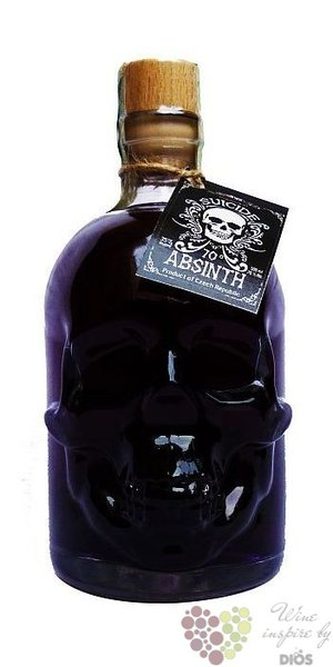 "Suicide "" Black "" Czech absinth by Hill´s distillery 70% vol.    0.10 l"
