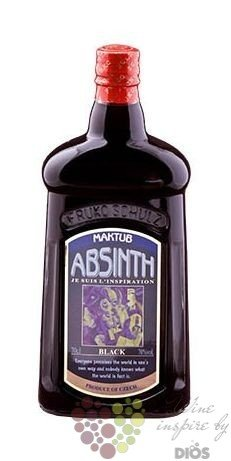 "Maktub "" Black "" Czech absinth 70% vol.  0.70 l"