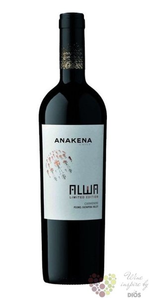 "Limited edition red "" Alwa "" 2009 Chile Cachapoal valley viňa Anakena     0.75 l"