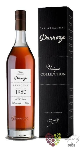 "Darroze 1980 "" Unique collection "" Bas Armagnac Aoc 48.3% vol.  0.70 l"