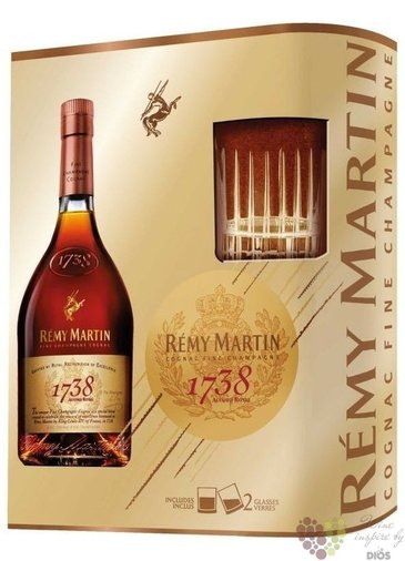 "Remy Martin "" 1738 Accord Royal "" 2glass pack Fine Champagne Cognac 40% vol.  0.70 l"