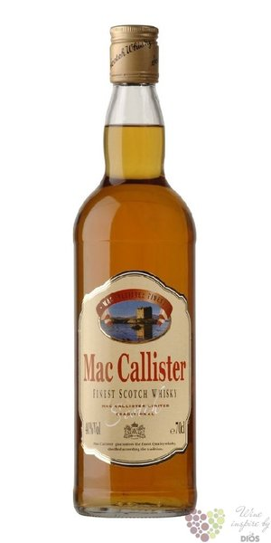 Mac Callister finest Scotch whisky 40% vol.  0.70 l