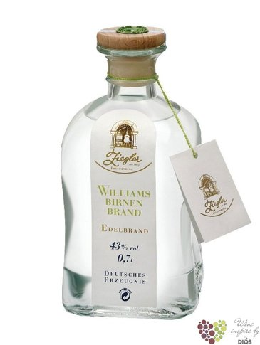 "Wiliamsbirnenbrand "" Eau de Vie "" fruits brandy by German distilleria Ziegler 43% vol.    0.35 l"
