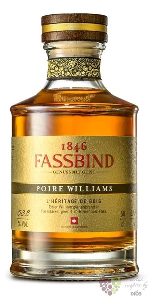 "Fassbind l´heritage de bois "" Poire Williams "" Swiss aged fruit brandy 53.8% vol.  0.50 l"