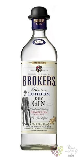 Broker´s premium British London dry gin 47% vol.  0.70 l
