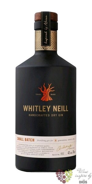 Whitley Neill small batch British London dry gin 43% vol.  0.05 l