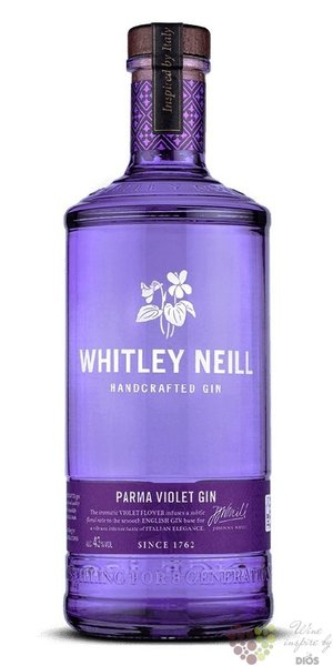 "Whitley Neill "" Parma Violet "" British flavoured small batch gin 43% vol.  0.70l"