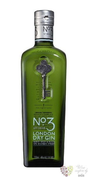 No.3 premium London dry gin by Berry Bros & Rud 46% vol.   0.70 l