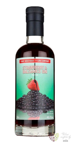 "that Boutique-y "" Strawberry & Balsamico batch.5 "" English gin by Atom brands 46% vol.  0.50 l"