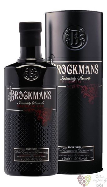 "Brockman´s "" Intensely Smooth "" gift tube premium English gin 40% vol.  0.70 l"