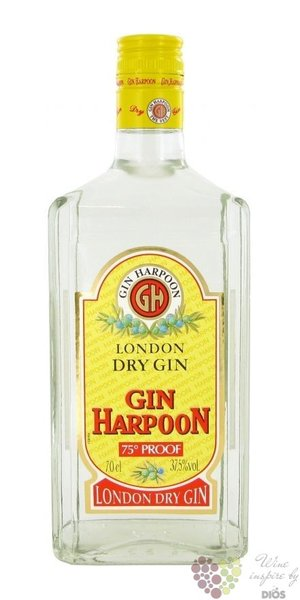 Harpoon English London dry gin 37.5% vol.  0.70 l