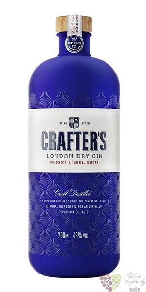 Crafter´s London dry Estonian gin 43% vol.  0.70 l