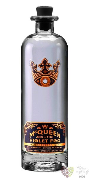 McQueen and the Violet Fog unique Brazilian gin by Bumbu rum co. 40% vol.  0.70l