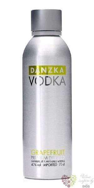 "Danzka "" Grapefruit "" premium flavored Danish vodka 40% vol.  1.00 l"