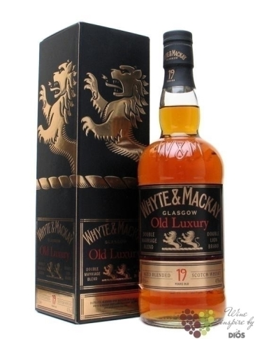 "Whyte & Mackay "" Old Luxury "" aged 19 years Double Merriage Glasgow Scotch whisky 40% vol.    0."