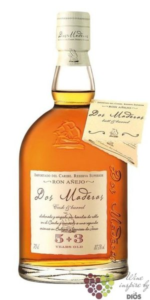 "Dos Maderas "" PX 5 + 3 "" Caribbean rum by Williams & Humbert 40% vol.  0.70 l"