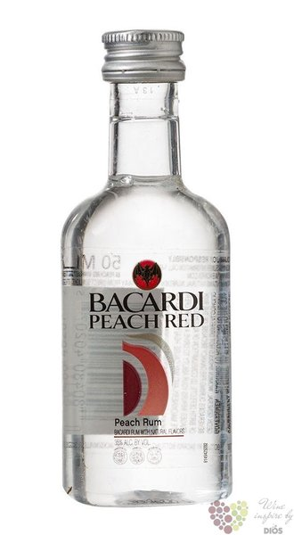 "Bacardi "" Peach red "" flavored Puerto Rican rum 35% vol.  0.05 l"
