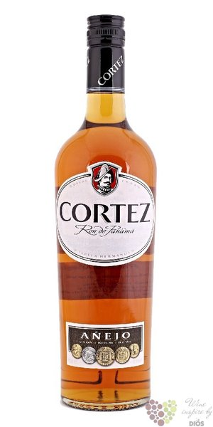 "Cortez "" Aňejo "" aged 3 years rum of Panama 40% vol.  0.70 l"