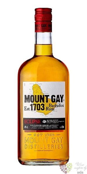 "Mount Gay "" Eclipse "" aged rum of Barbados 40% vol.  0.70 l"