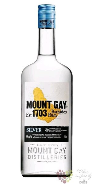 "Mount Gay "" Silver "" aged rum of Barbados 40% vol.  1.00 l"