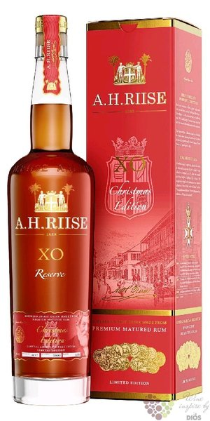 "A.H. Riise XO Reserve "" Christmas edition ltd.2017 ""  Caribbean rum 40% vol.  0.70 l"