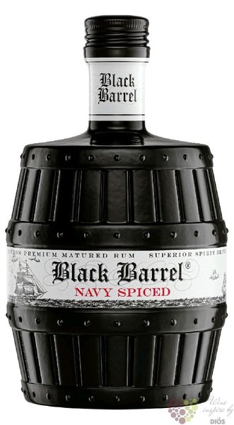 "A.H. Riise "" Black barrel "" Danish navy spiced rum of Virginia islands 40% vol.0.70 l"