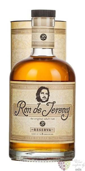 "Ron de Jeremy "" Reserva "" gift box aged 8 years Panamas rum 40% vol.  0.70 l"