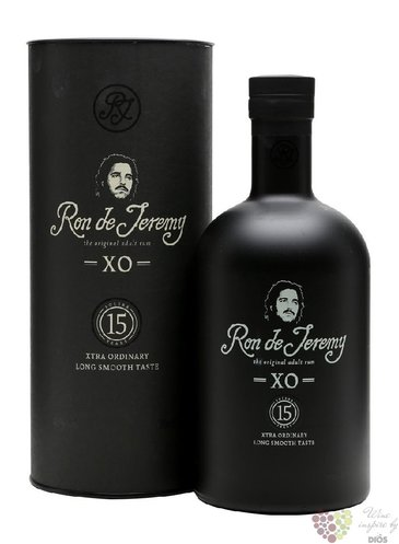 "Ron de Jeremy "" XO "" gift tube aged 15 years Panamas rum 40% vol.  0.70 l"