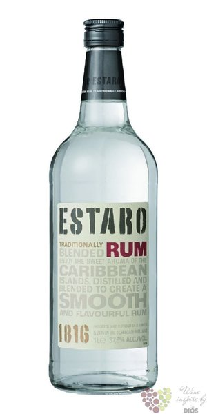 "Estaro "" White "" blended Caribbean rum 37.5% vol.  1.00 l"