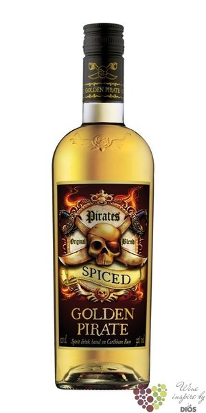 Golden Pirate spiced flavored caribean rum of Denmark 32% vol.   0.70 l