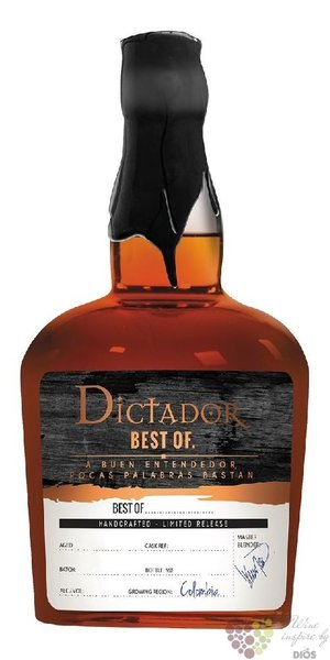 "Dictador 1977 "" Best of "" aged 38 years single cask Colombian rum 42% vol.   0.70 l"