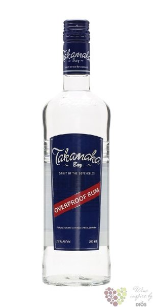 "Takamaka bay "" Overproof "" plain rum of Seychelles islands 72% vol.    0.70 l"