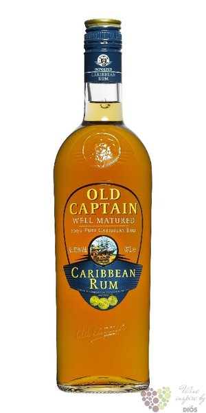 "Old Captain "" Well matured "" pure Caribbean rum 37.5% vol.    0.70 l"