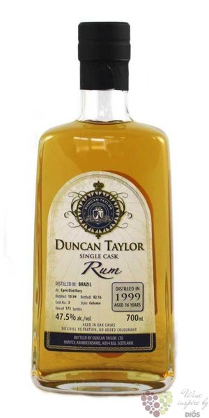 Epris distillery rum of Brazil 1999 aged 16 years Duncan Taylor 46.3% vol.   0.70 l