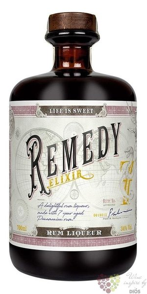 "Remedy "" Elixir "" flavored Caribbean rum 34% vol.  0.70 l"