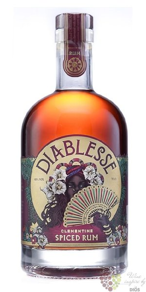 "Diablesse "" Clementine "" aged blended Caribbean rum 40% vol.  0.70 l"