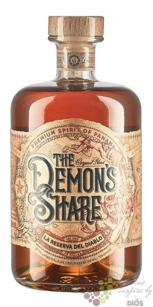the Demons Share aged Caribbean rum of Panama  40% vol.  0.20 l