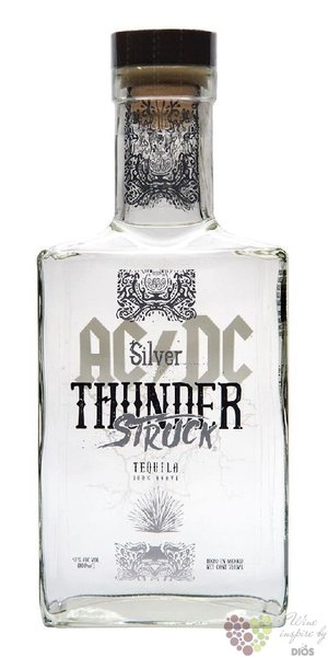 "AC/DC Thunder Struck "" Blanco ""  Blue agave Mexican tequila 40% vol.  0.70 l"