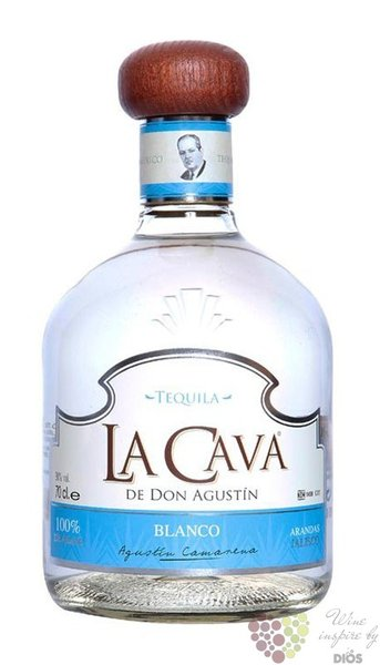 "la Cava de Don Agustin "" Blanco "" 100% of Blue agave Mexican tequila 38% vol.  0.70 l"
