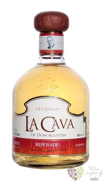 "la Cava de Don Agustin "" Reposado "" 100% of Blue agave Mexican tequila 38% vol.0.70 l"