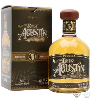 "Don Agustin "" Aňejo "" 100% of Blue agave Mexican tequila 38% vol.     0.70 l"