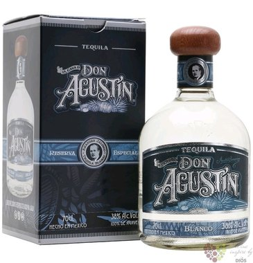 "Don Agustin "" Blanco "" pure Blue agave Mexican tequila 38% vol.  0.70 l"