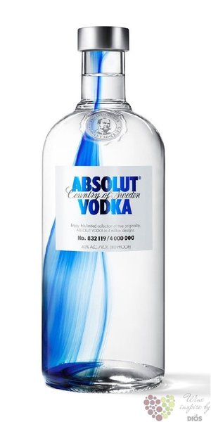 "Absolut ltd. "" Originality "" country of Sweden superb vodka 40% vol.  0.70 l"