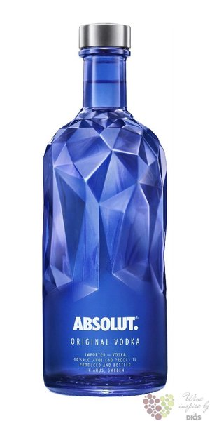 "Absolut ltd. "" Facet "" country of Sweden superb vodka 40% vol.  0.70 l"