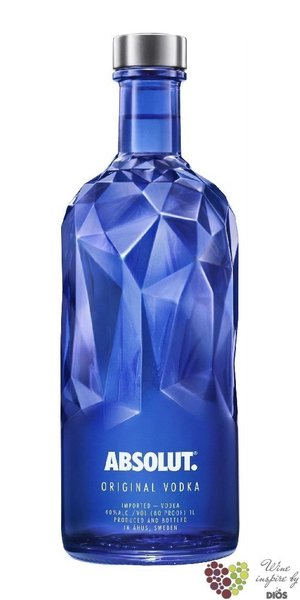"Absolut ltd. "" Facet "" country of Sweden superb vodka 40% vol.  1.00 l"