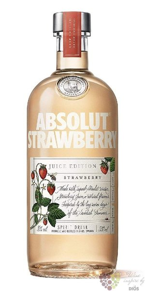 "Absolut Juice "" Strawberry "" country of Sweden Superb vodka 35% vol.  0.50 l"