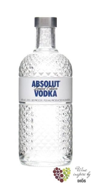 "Absolut ltd "" Glimmer "" country of Sweden superb vodka 40% vol.  1.75 l"