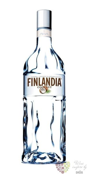 "Finlandia "" Coconut "" original flavored vodka of Finland 40% vol.  1.00 l"