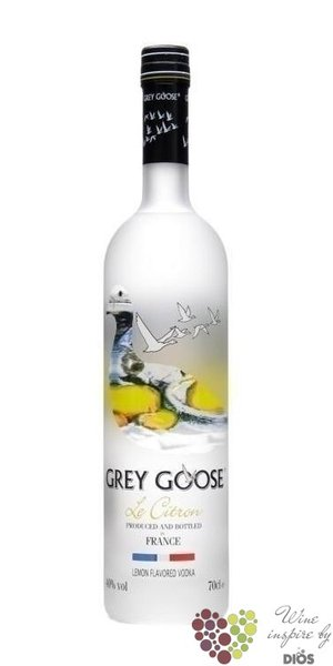 "Grey Goose "" le Citron "" ultra premium French flavored vodka 40% vol.   1.00 l"
